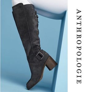 ⭐️ARRIVAL Anthropologie Suede Gray Leather Boots